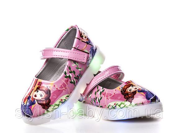 Детская обувь с подсветкой -(не все светятся). Детские туфли бренда ВВТ для девочек (рр. с 21 по 26), фото 2