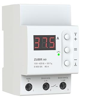Реле контроля тока ZUBR I40 на DIN–рейку