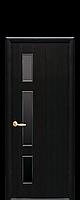 """Межкомнатные двери """"Герда"""" с черным стеклом"""