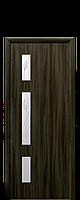 """Межкомнатные двери """"Герда"""" со стеклом сатин и рисунком"""