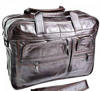 Кожаный портфель 3051 Coffee классический деловой портфель из натуральной кожи