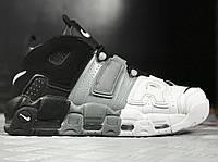 """Кроссовки Nike Air More Uptempo Tri-Color"""". Топ качество! Живое фото (Реплика ААА+)"""