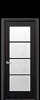 """Межкомнатные двери """"Виктория"""" со стеклом сатин и рисунком"""