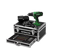 Дрель-шуруповерт 53нм  + металлический чемодан + аксессуары 100 элементов Hitachi HDS18DJLWK