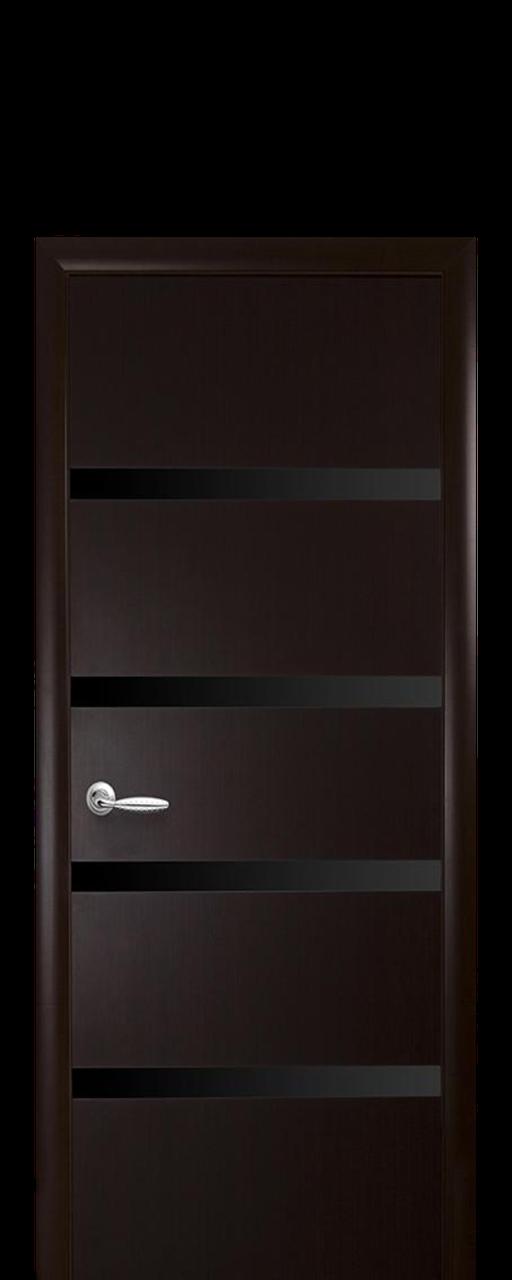 """Межкомнатные двери """"Нота"""" с черным стеклом"""