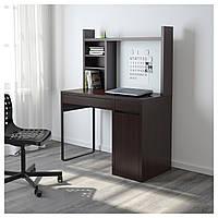 Компьютерный стол с надстройкой MICKE 105x50 см черно-коричневый