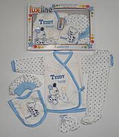 """Подарочный набор """" Teddy"""" для новорожденных 5 предметов. Размер 0-3 мес."""