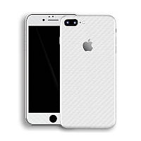 Белый Карбон на iPhone 7 Plus Виниловые Декоративные Наклейки Скин Защитная Пленка под Carbon 3D Винил Стикер