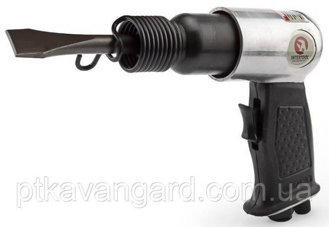 Зубило пневматическое с набором насадок 4 шт. 150 мм (цилиндрический хвостовик) INTERTOOL PT-1302