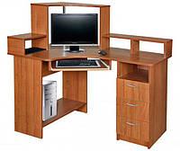 Угловой компьютерный стол Лидер с надстройкой. Стол для ПК в кабинет и офис