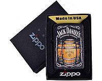 Зажигалка бензиновая Zippo Jack Daniels в подарочной упаковке №4735-3, 2 вида
