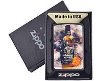 Зажигалка бензиновая Zippo Jack Daniels №4736, в подарочной упаковке