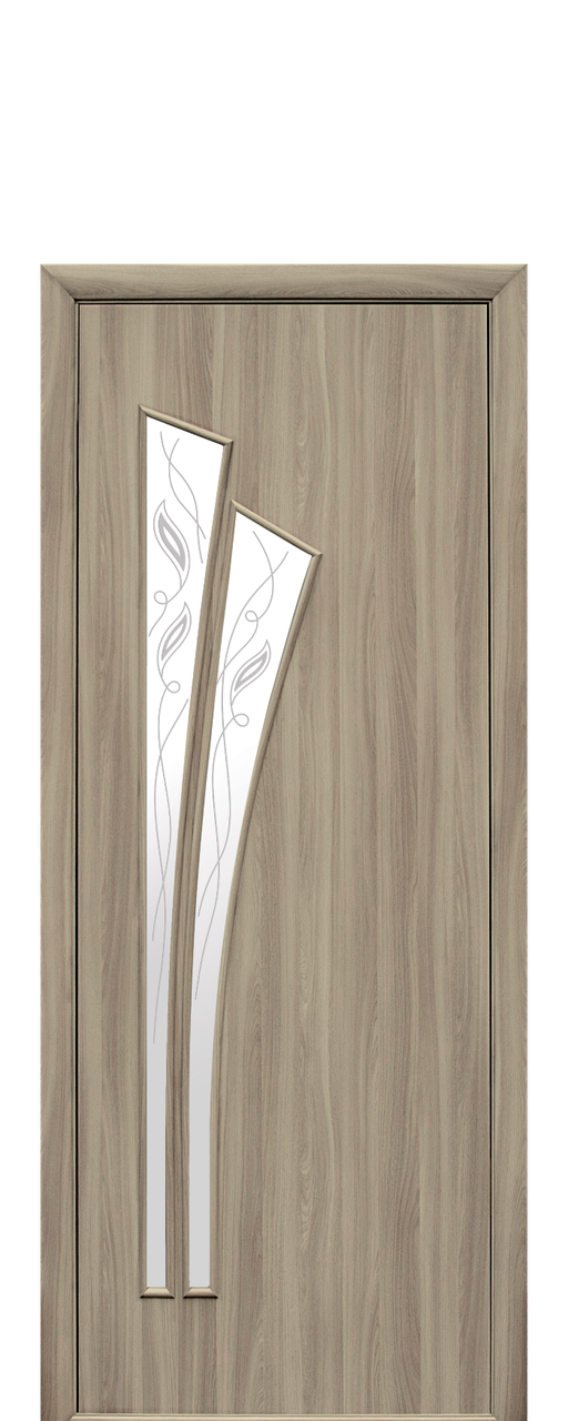 """Межкомнатные двери """"Лилия"""" со стеклом сатин и рисунком"""