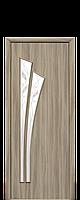 """Межкомнатные двери """"Лилия"""" со стеклом сатин и рисунком, фото 1"""