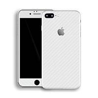 Белый Карбон на iPhone 8 Plus Виниловые Декоративные Наклейки Скин Защитная Пленка под Carbon 3D Винил Стикер