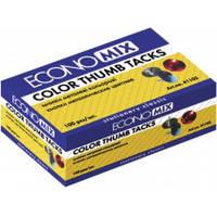 Кнопки металеві Economix, кольорові, 100 шт. Е41103