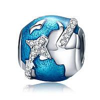 "Шарм Pandora Style (стиль Пандора) ""Земной шар"""