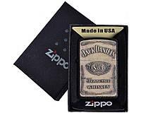 Зажигалка бензиновая Zippo Jack Daniels №4740-2, 3 вида, в подарочной упаковке