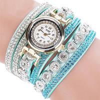 Женские часы браслет со стразами и бирюзовым браслетом