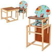 Деревянные стульчики для кормления