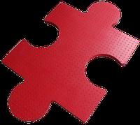 Резиновая цветная плитка с креплением ПАЗЛ