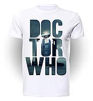 Футболка GeekLand Доктор Кто Doctor Who надпись дождем  DW.001.10