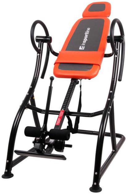 Інверсійний стіл Insportline Inverso Plus тренажер для спини і хребта
