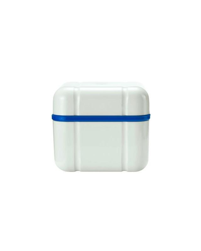 Контейнер с решеткой для хранения съемных зубных протезов Curaprox BDC 110, синяя