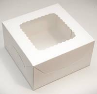 Коробка 17х17х9 см. (с окошком белая), фото 1