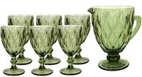 Набор для напитков с кувшином Изумруд зеленый