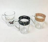 Чашка стеклянная 320 мл, расцветка в ассортименте