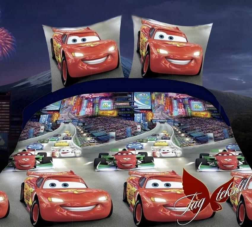 Комплект постельного белья для детей полуторный Молния Маквин (ДП-Молния Маквин)