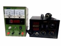 Комплект: паяльная станция AIDA 852D+ c лабораторным блоком питания Saike PS-1501T