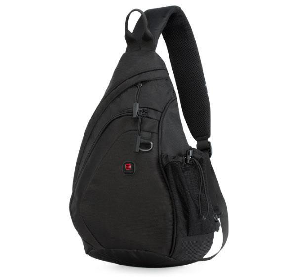 Мужская сумка через плечо слинг  BALANG BLC03-1 Black