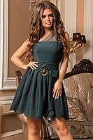 """Оригинальное платье креп + сетка +пояс в комплекте""""Изабелла"""""""
