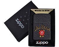 Зажигалка бензиновая Zippo Jim Beam №4740-3, 4 вида, в подарочной упаковке