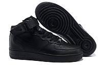 Мужские кроссовки Nike Air Force High Black (унисекс) (Реплика ААА+)