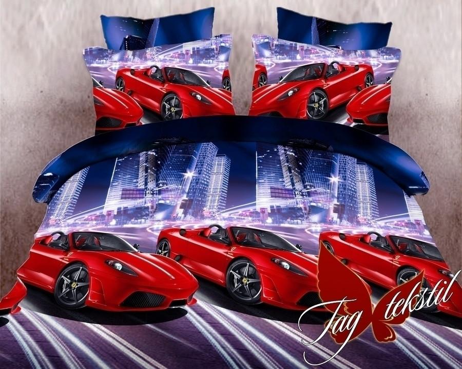 Комплект постельного белья для детей полуторный Гонки (ДП-Гонки)