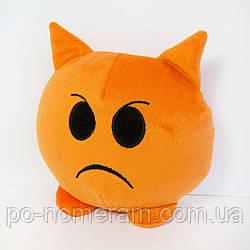Игрушка мягкая Смайлик emoji злюка