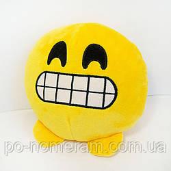 Игрушка мягкая Смайлик emoji зубастик