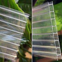 Прозрачный сотовый поликарбонат для теплицы толщина 8мм. Oscar, прозрачный 2,1*6,0м.