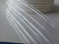 Тесьма прозрачная широкая 6см  50м/п