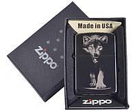 Зажигалка бензиновая Zippo(ВОЛК) в подарочной упаковке №4729-3
