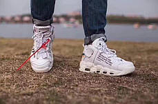 Мужские кроссовки Off-White x Nike Air More Uptempo On Feet White, фото 3