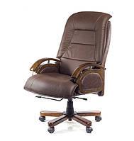 Кожаное кресло БОСС EX RL коричневый