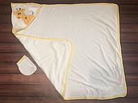 Махровий рушник з куточком + рукавиця-мочалка