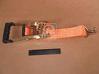 Стяжка груза 5t (трещотка прорезин. ручка, лента 50mm.x0.5m., крюк) <ДК>