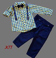 Нарядный костюм для мальчика с бабочкой и подтяжками Турция, фото 1