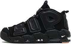 Мужские кроссовки Supreme x Nike Air More Uptempo Suptempo Black