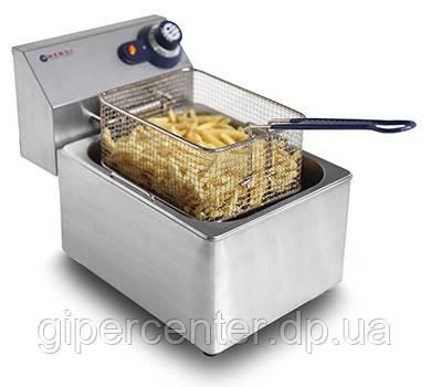 Электрическая настольная фритюрница Hendi BlueLine 205822 на 8 л (одна ванна)